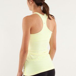 Lululemon Cool Racerback Tank Top Yellow Cream 2